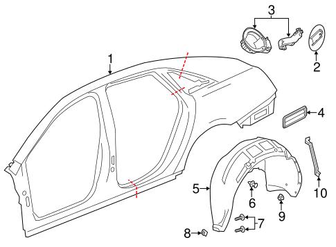 Quarter Panel Components For 2018 Cadillac Xts