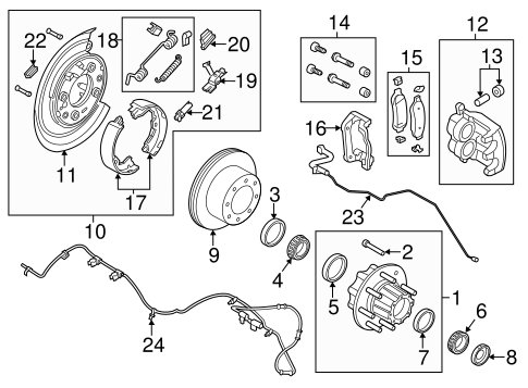 Brakes/Brake Components for 2011 Ford F-250 Super Duty #2