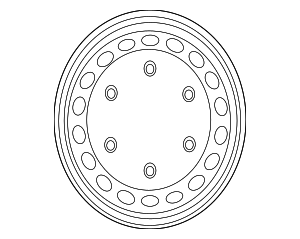 Wheel, Steel - Mercedes-Benz (001-401-44-02-9040)