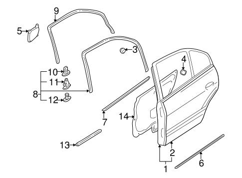 Door Components For 2000 Mitsubishi Galant De
