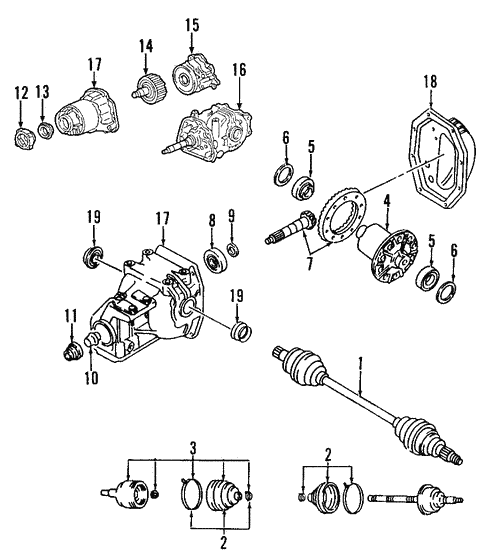 genuine oem rear axle parts for 2006 mazda 6 i realmazdaparts com Ford 3.0 V6 Engine Diagram universals \u0026 rear axle rear axle for 2006 mazda 6