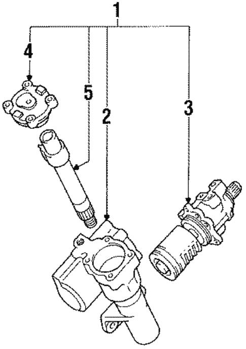 Genuine Oem Steering Gear Parts For 1991 Toyota 4runner Sr5