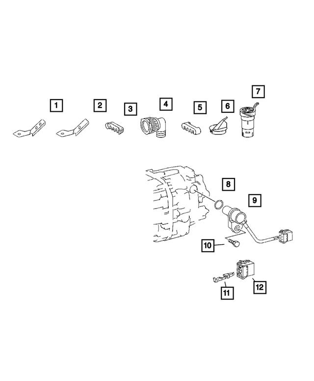 Mopar Wiring Harnes Retainer