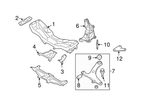 suspension components for 2009 subaru forester subaru parts. Black Bedroom Furniture Sets. Home Design Ideas