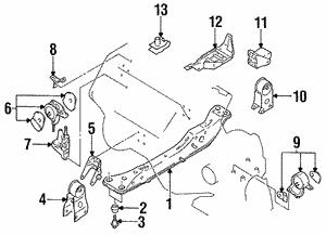 Genuine Nissan Rear Engine Motor Mount//Insulator 11320-5Y800