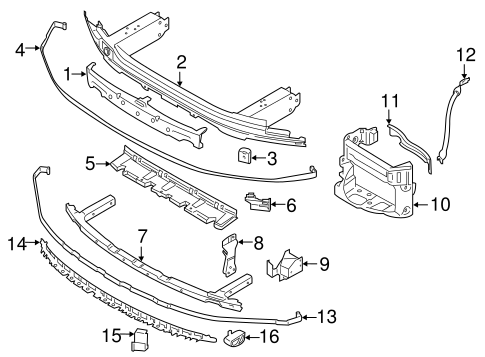 Bumper & Components - Front for 2017 BMW 750i #2