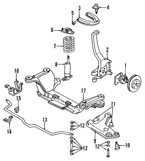 Front Suspension Parts For 1999 Pontiac Firebird