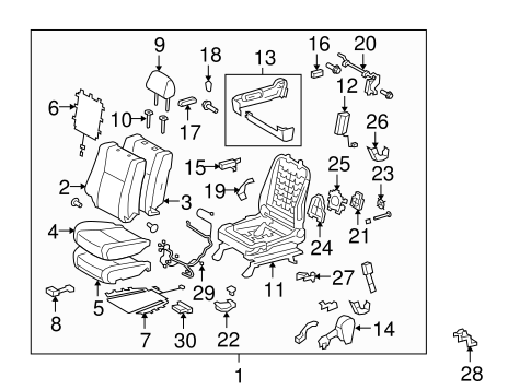 TOYOTA Genuine 71875-0C020-B2 Reclining Adjuster Cover