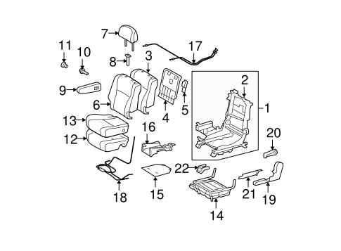 BODY/SECOND ROW SEATS for 2008 Toyota Highlander #3