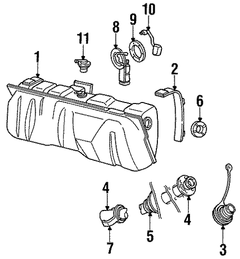 1990 Lincoln Town Car Fuel System Diagram