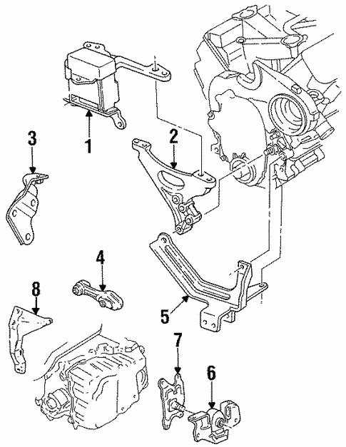engine  u0026 trans mounting for 1998 oldsmobile achieva
