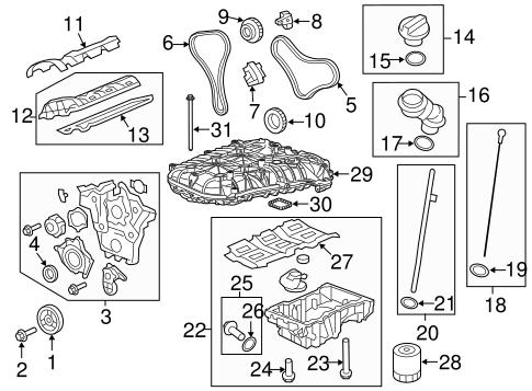 2010 chevy traverse engine diagram engine parts for 2010 chevrolet traverse #9