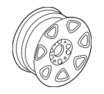 Wheel - Mercedes-Benz (6-6-47-0544-64)