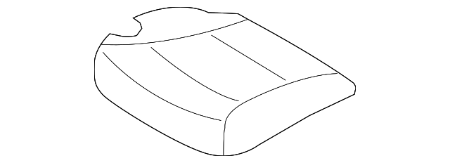 Front Genuine Hyundai 88160-4R110-RAY Seat Cushion Covering