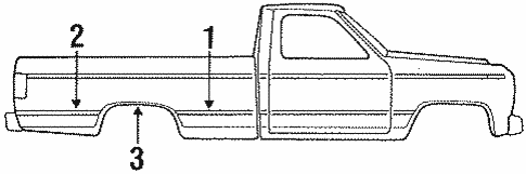 Body/Exterior Trim - Pick UP Box for 1997 Ford F-350 #2