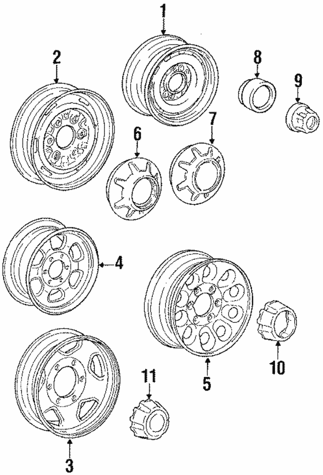 Wheel, Steel - Mitsubishi (MB370465)