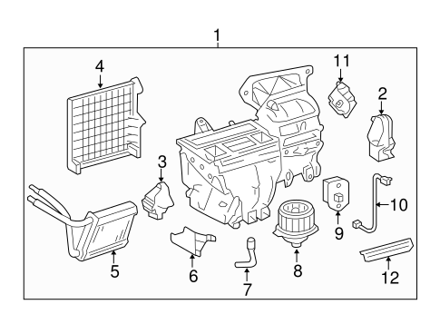 HVAC/HEATER COMPONENTS for 2008 Toyota Corolla #1