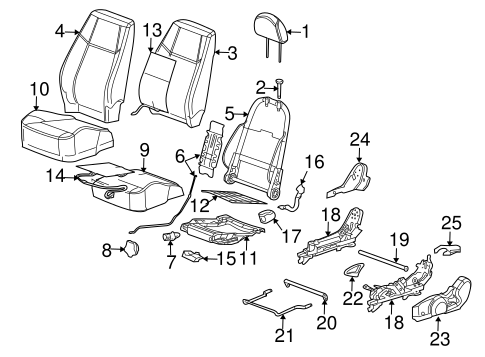 Front Seat Components for 2008 Chevrolet Cobalt #2