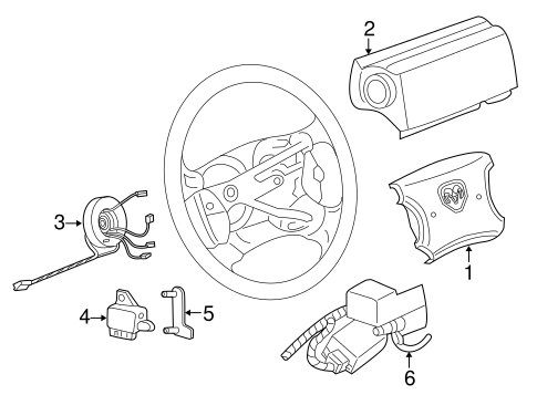 Air Bag Components For 1997 Dodge Dakota