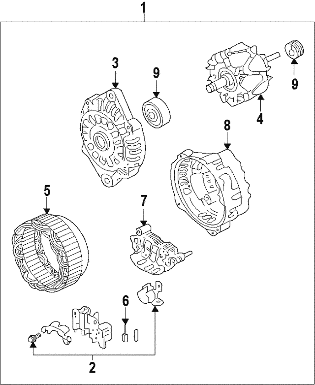 Alternator - Subaru (23700AA63B8A)