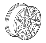 Wheel, Alloy - GM (23203130)