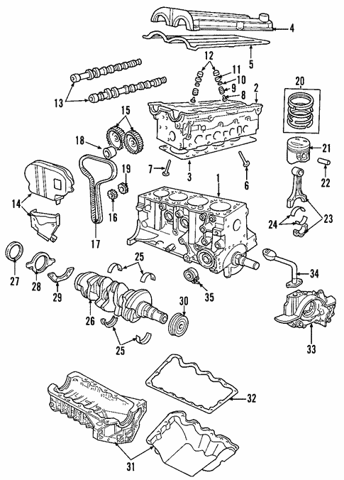 [SCHEMATICS_4UK]  Engine for 2004 Mazda Tribute | RealMazdaParts.com | Mazda Tribute Engine Diagram |  | Real Mazda Parts