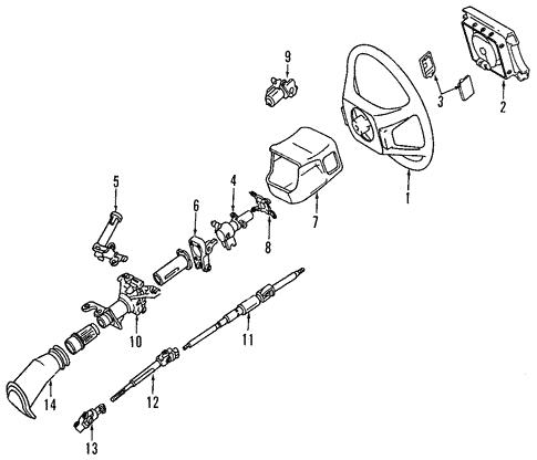 [DIAGRAM_3ER]  Steering Column for 1991 Lexus LS400 | Genuine Lexus Parts | 1991 Lexus Ls400 Engine Diagram |  | shop genuine lexus parts with lexus of stevens creek
