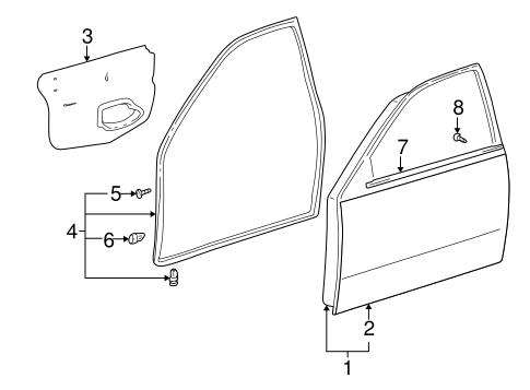 Door Components For 2002 Lexus Is300