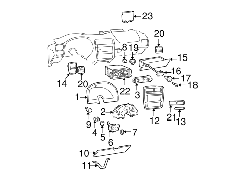 Keyless Entry Components for 2000 Chevrolet Camaro #0