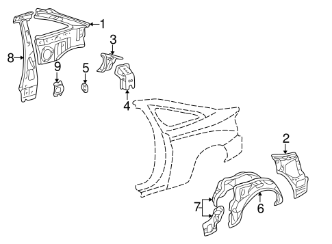 BODY/INNER STRUCTURE for 2003 Toyota Celica #1