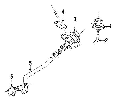 Genuine OEM EGR System Parts for 1993 Toyota Corolla DX - Olathe
