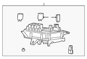 genuine oem fuse relay box 2009 2012 buick enclave. Black Bedroom Furniture Sets. Home Design Ideas
