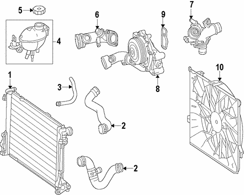 Radiator & Components for 2014 Mercedes-Benz GLK 250 #0