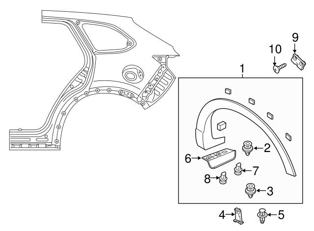 Front Rocker Molding TK48-51-RB0B TK4851RB0B Drivers Side OEM Genuine Mazda Left