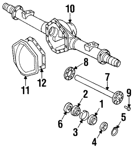 axle housing for 1990 chevrolet c3500