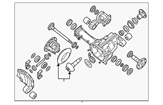 a58dd2495156b0b04c880233954f6f30 differential assembly nissan (38500 8s11a) nissan parts