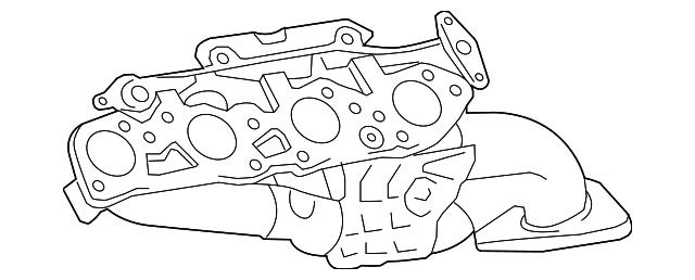 genuine toyota exhaust manifold 17105