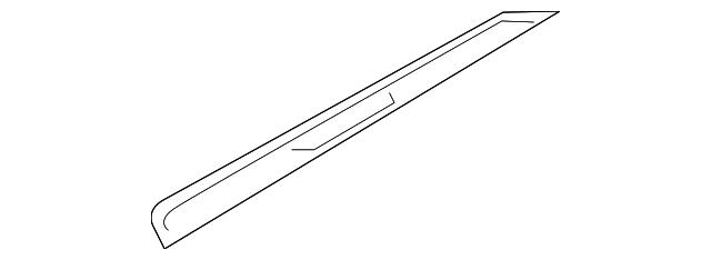Genuine Hyundai 85883-B8500-RYN Step Plate Trim Front Right