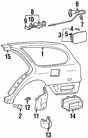 Genuine Hyundai 86832-33150 Wheel Mud Guard Assembly