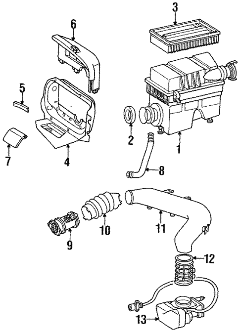 Fuel System Components for 1995 Mercedes-Benz E 320 #1
