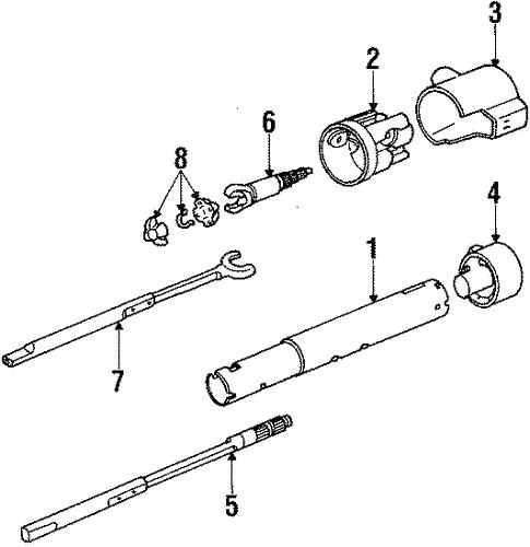 oem 1990 chevrolet camaro steering column assembly parts