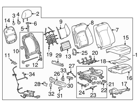 Oem 2013 Chevrolet Malibu Power Seats Parts