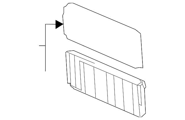 cooling unit  mazda 3 filter cooling unit