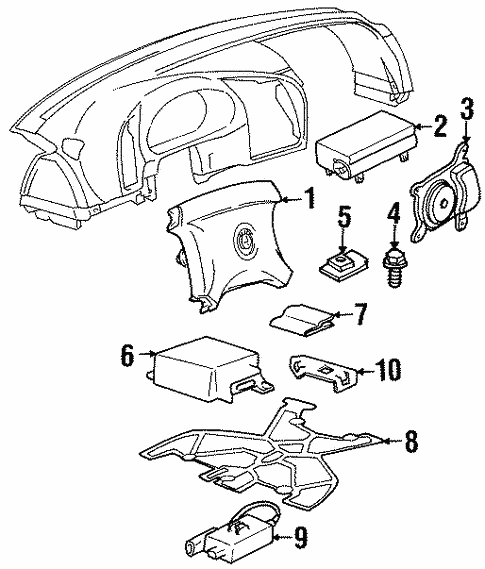 Air Bag Components for 1993 BMW 325i #1