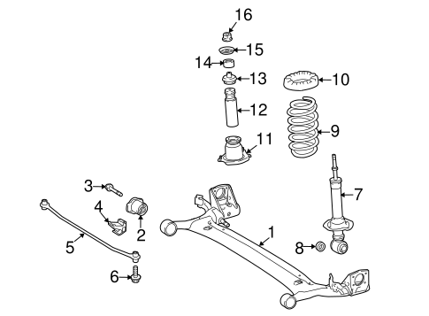 REAR SUSPENSION/REAR SUSPENSION for 2016 Toyota Corolla #1