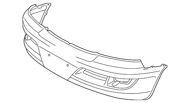 2003 2009 Lexus Gx470 Bumper Cover 52119 60938