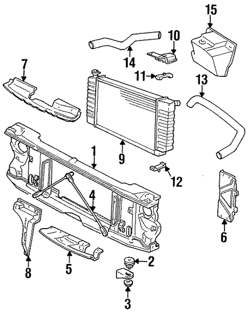 radiator support lower insulator