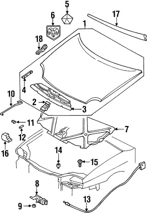 hood components for 1997 dodge neon steve white parts. Black Bedroom Furniture Sets. Home Design Ideas