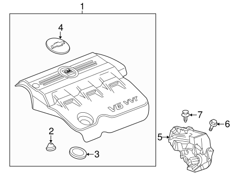 Engine Appearance Cover for 2014 Chevrolet Equinox   GM Parts Online   2014 Silverado Engine Diagram      GM Parts Online