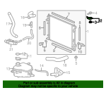 Bracket A, Radiator Mounting (Upper)
